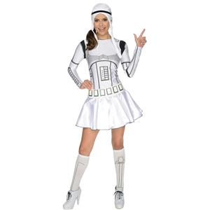 Secret Wishes Star Wars Female Storm Trooper Sexy Adult Costume Size XS 0-2