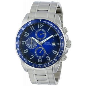 GUESS Men's U15072G2. Sporty.Gold Tone Bracelet.Chronograph.Round Blue Dial.100M Resist.