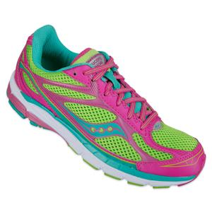 Saucony Ride 7 Girls 2.5 M Shoes New NIB Neon Multi-Color