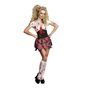 Dreamgirl High School Schoolghoul Sexy Schoolgirl Zombie Adult Costume Small 2-6