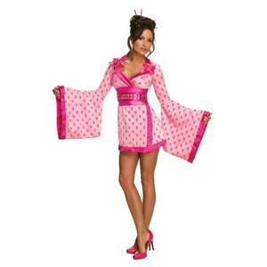 Secret Wishes Women's Sexy Playboy Pink Geisha Costume Medium