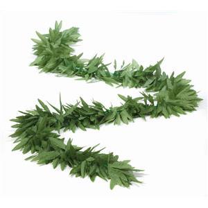 Hippie Marijuana Pot Leaf Green Leaf Flower 6' Long Boa