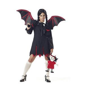 Women's Very Bat Girl Adult Wednesday Addams Costume Adult Medium 8-10
