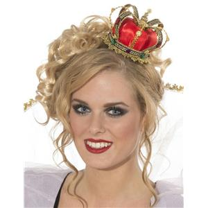 Mini Queen Crown Hat Costume Accessory