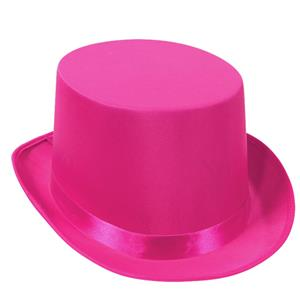 Pink Satin Sleek Tuxedo Top Hat Breast Cancer Awareness