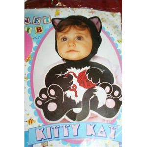 Kitty Cat Bonnet and Bib Baby Girl Costume 0-9 months