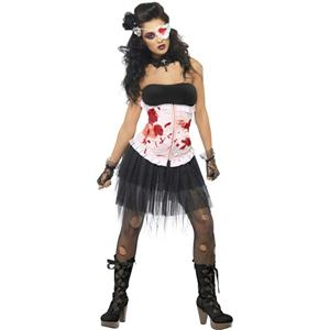 Smiffy's Womens Bleeding Beauty Gothic Adult Corset Tutu Costume Size Medium