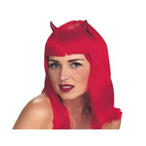 Devilicious Sexy Red Devil Wig with Horns