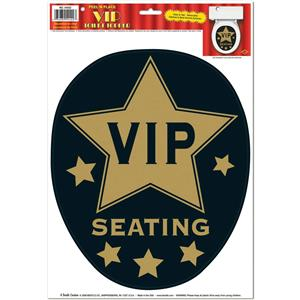 Peel 'N Place VIP Seating Toilet Lid Topper Joke Gag Party Accessory