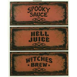 2 Liter Soda Bottle Halloween Party Decoration Coke Name Labels