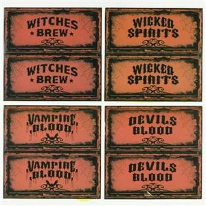 Wine Bottle Halloween Party Decoration Wine Name Labels