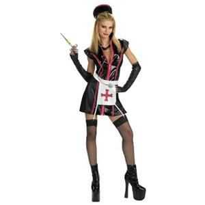 Deceptions Sexy Naughty Nurse Adult Costume Size 12-14