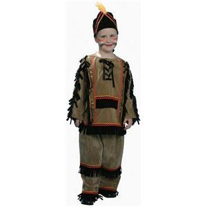 Deluxe Indian Boy Child Costume Dress Up Set Size Medium 8-10