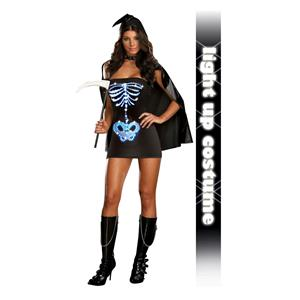 Maya Remains Sexy Skeleton Adult Costume Large