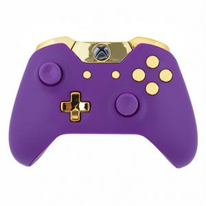 Mod Freakz Custom Series Xbox One Controller Shell/Buttons Matte Purple  with Gold Edition