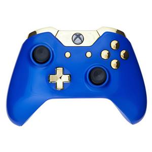 Mod Freakz Custom Series Xbox One Controller Shell/Buttons Royal Blue with  Gold Buttons