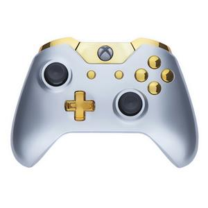 Mod Freakz Custom Series Xbox One Controller Shell/Buttons Gloss Silver  with Gold Buttons