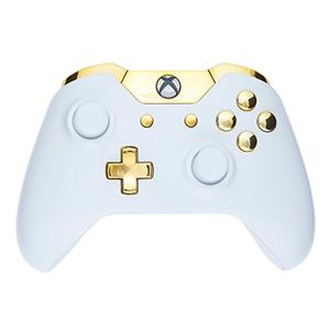 Mod Freakz Custom Series Xbox One Controller Shell/Buttons Piano White with  Gold Buttons