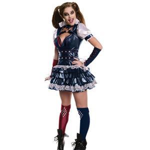 Batman Arkham: Harley Quinn Adult Costume Small 2-6
