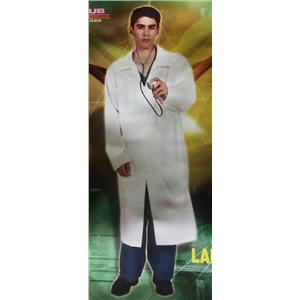 White Doctor Lab Costume Coat Size XL