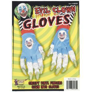 Evil Killer Clown Creepy Gloves Scary Long Finger Nails