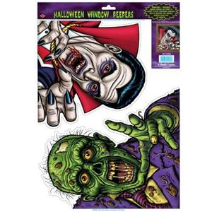 Ghoul Peeper Halloween Window Clings Peepers