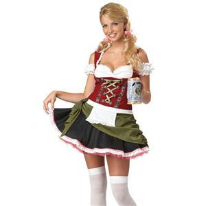 Bavarian Bar Maid Sexy Adult Costume Size Large 10-12