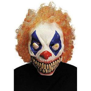 Evil Clown Adult 3/4 Mask with Hair