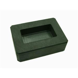 5 oz Gold Bar High Density Graphite Mold - 3 oz Silver Bar Loaf Scrap Copper