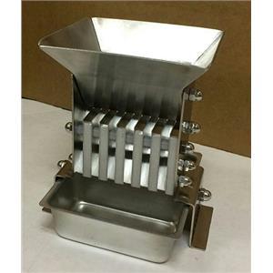 "Jones Stainless Steel Micro-Splitter 1/8"" Riffles w/2 pans"