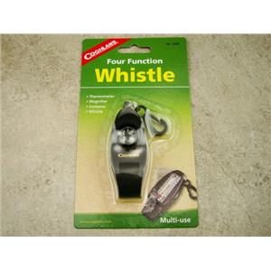 Four Function Whistle, Coghlans, Thermometer, Compass, Magnifier, Whistle