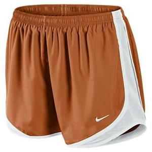 NWT Girls Nike Tempo Dri-Fit Shorts Orange Texas XL