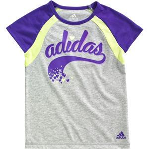 Adidas Girls' Sporty Raglan T-Shirt Size 5