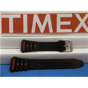 Timex Watch Band 19mm Ironman Black:Red Graphics Strap. Original Watchband