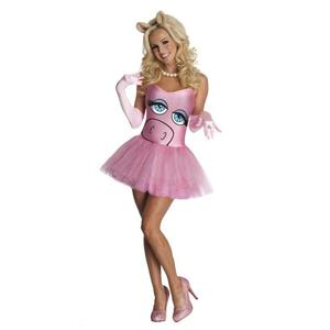 The Muppets Secret Wishes Miss Piggy Sexy Adult Costume Dress Size XS