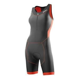 2XU Perform Trisuit Women's Charcoal/Coral Small