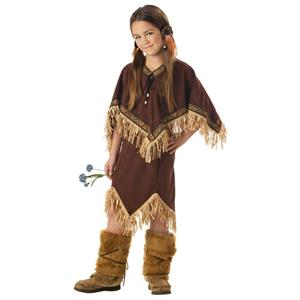 Princess Wildflower Child Native American Indian Girls Costume Size XS 4-6