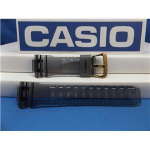 Casio Watch Band DW-6900 FG-8 Smoke Gray Original Watchband/Strap w/Gold Tn Bkle