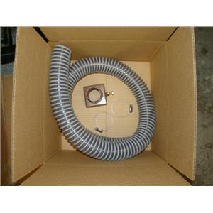 """Rock Crusher Vacuum Attachment for 11"""" Crusher - 2"""" Exit Port + Hose & Clamps"""