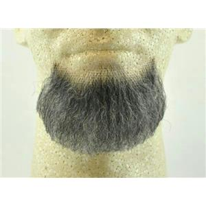 Dark Gray Human Hair Goatee Chin Beard Costume Beard 2022