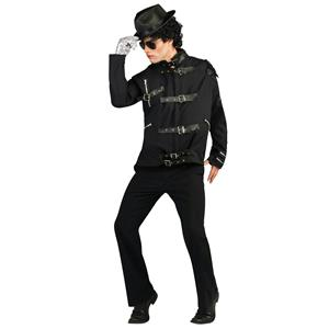 Adult Michael Jackson Deluxe Bad Buckle Costume Jacket Size Medium 38-40