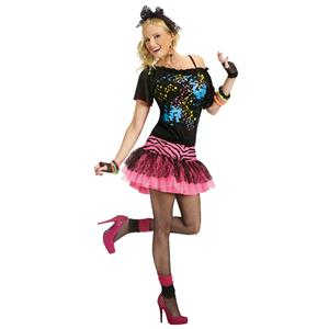80s Pop Party Women's Costume Size S/M 2-8