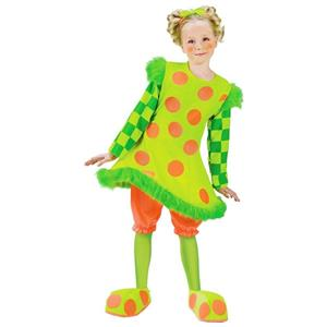Lolli the Girls Clown Child Costume Neon Polka Dot Hoop Size Small 4-6
