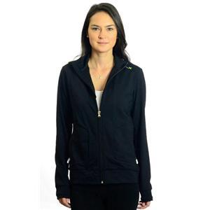 L NWT RLX Ralph Lauren Black Full Zip Long Sleeve Tennis Track Jacket w/Collar