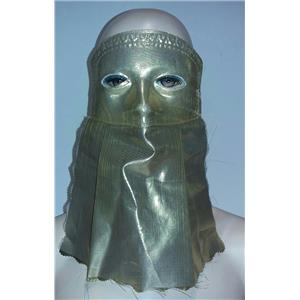 Shiny Gold Curtain Domino Eye Mask