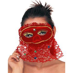 Adult Senorita Red Lace Eye Mask