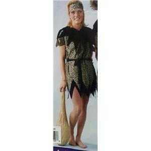 Funny Fashion Cave Woman Lady Adult Costume Size Large