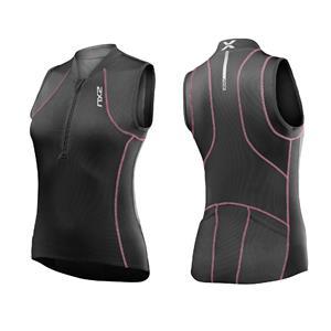 2XU G:2 Multi-Sport Singlet Women's Small Pink / Charcoal