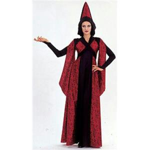 Savoir Faire Black and Red Rose Queen Gothic Costume Dress and Hat Size Large