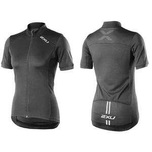 2XU Women's Active Cycle Jersey Black Small